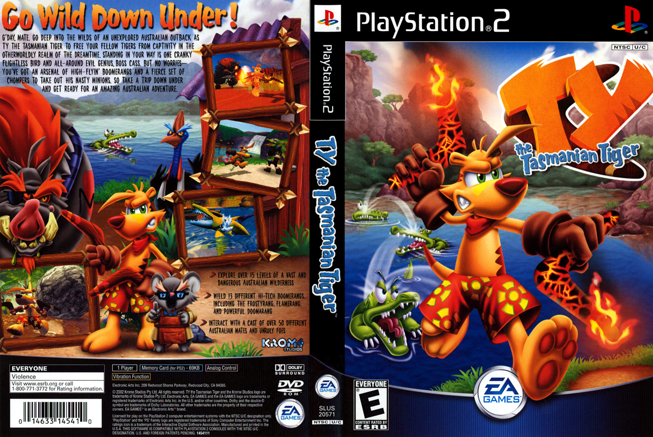 ty the tasmanian tiger 2 iso ps2
